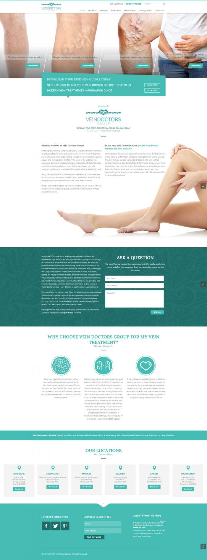 Vein Doctors Group Homepage
