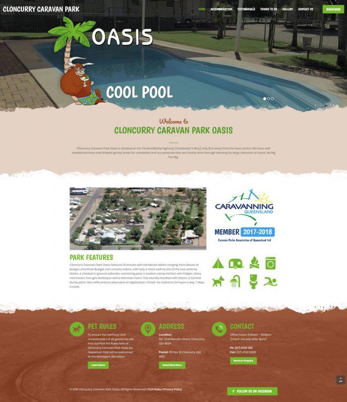 Cloncurry Caravan Park Oasis Homepage